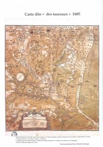 carte des taureaux 1685