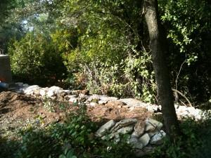 reconstruction des murets en pierre IMG_0073