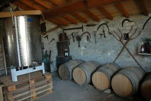 vin blanc Aigalade caveau