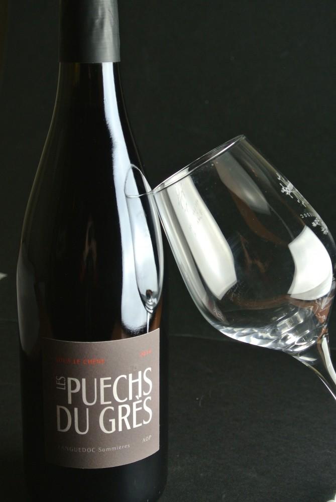 vin rouge AOP Languedoc Sommières du domaine des puces du grès