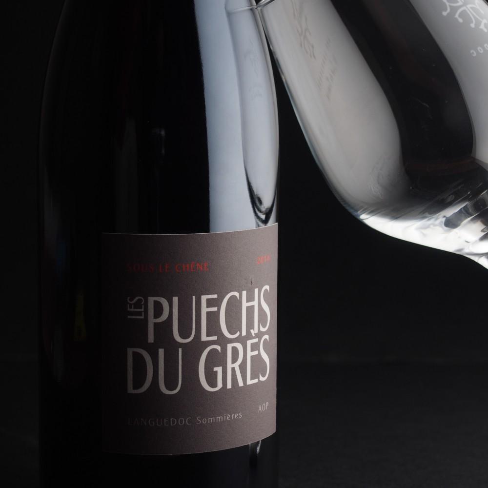 bouteille vin rouge AOP Sommières domaine les Puechs du Grés